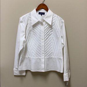 Jones New York white button down blouse size 1X